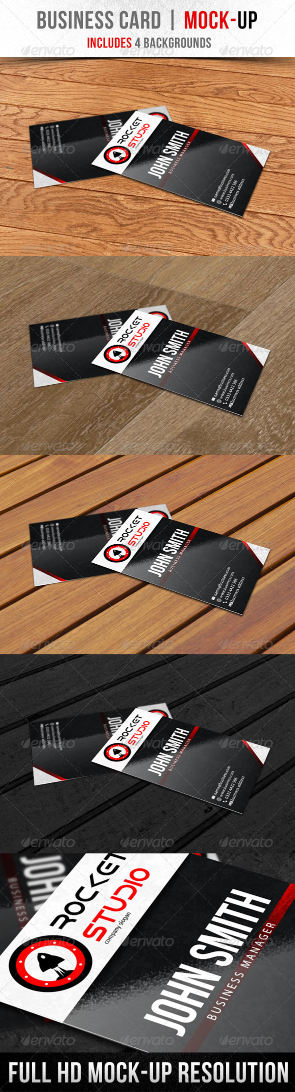 GraphicRiver Business Card Mock-Up 5851121