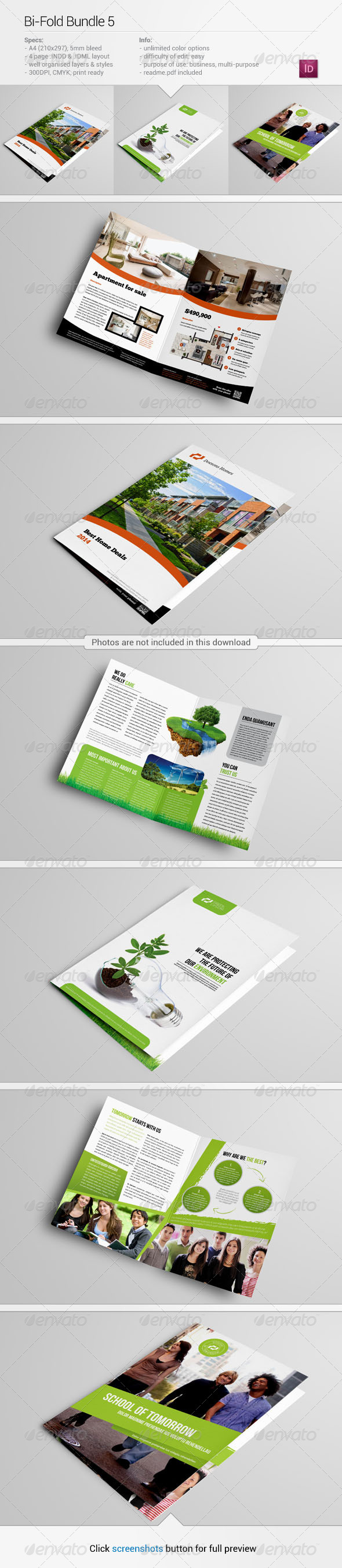 GraphicRiver Bi-Fold Bundle 5 5889781