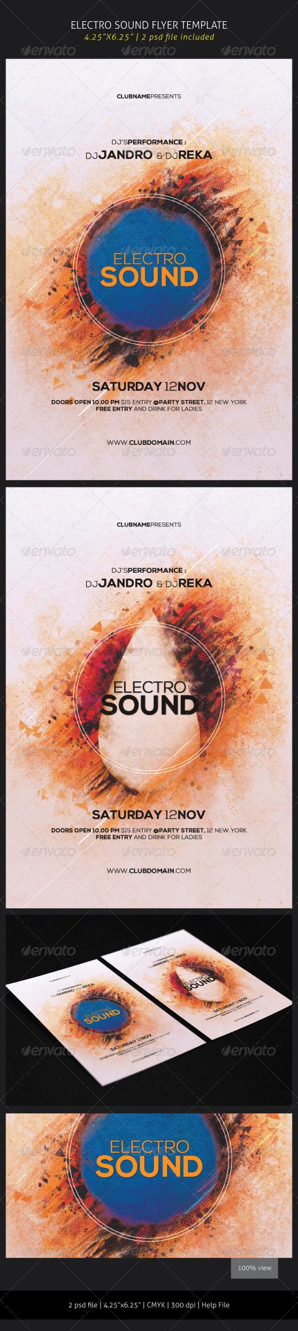 GraphicRiver Electro Sound Flyer 5889943