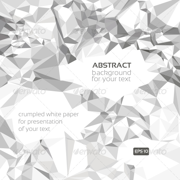 GraphicRiver Abstract Vector Crumpled Paper Banner 5890043