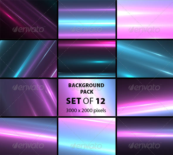 GraphicRiver Light Background Set Of 12 5853857