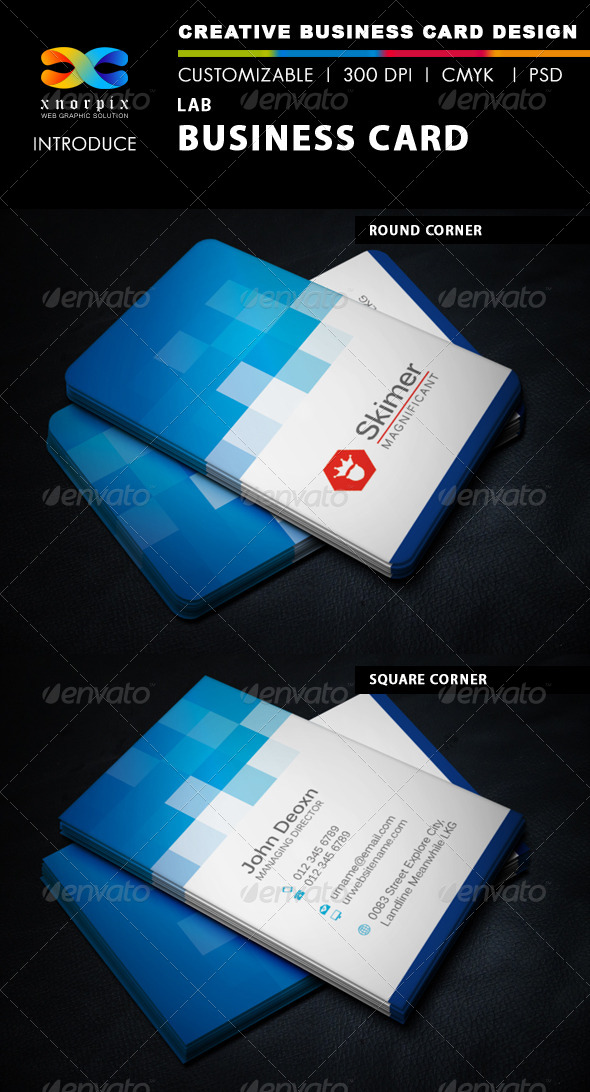 GraphicRiver Lab Business Card 5890360