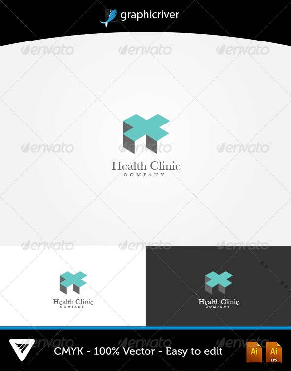 GraphicRiver Health Clinic Logo 5890361