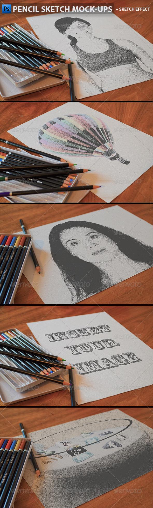 GraphicRiver Pencil Sketch Mock-Ups 5890666