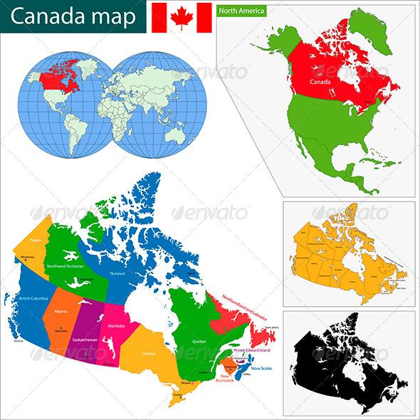 GraphicRiver Canada Map 5890871