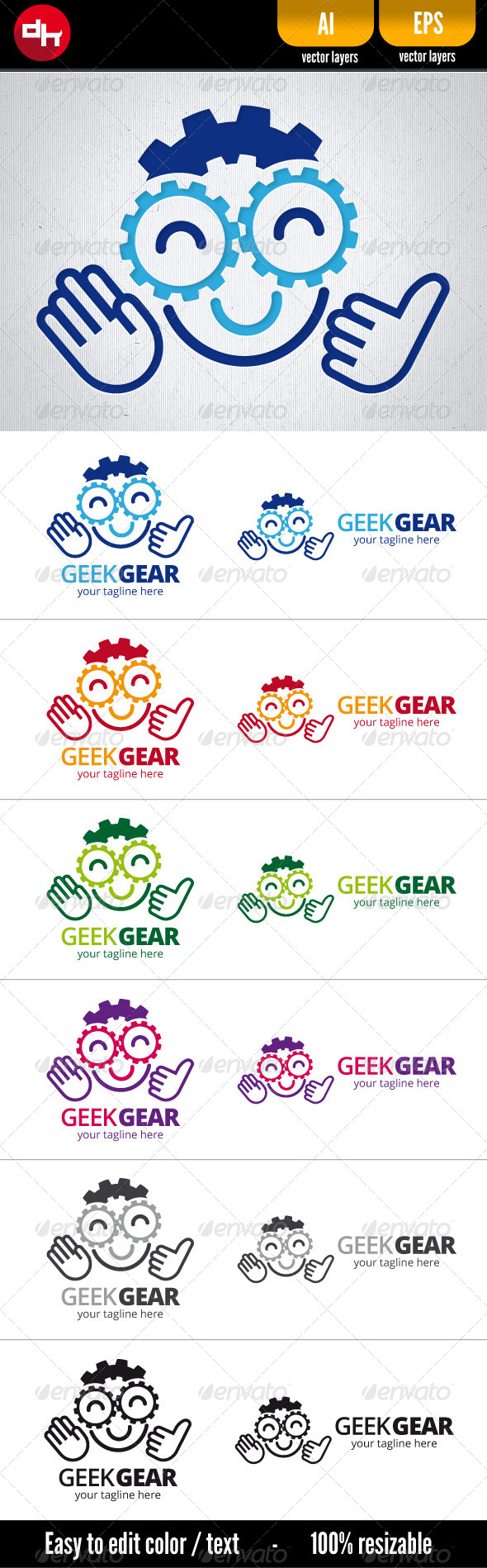 GraphicRiver Geek Gear 5891105