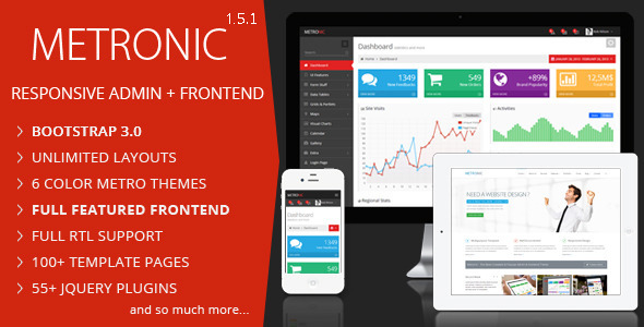 Metronic v1.5.1 – Responsive Admin Dashboard Template