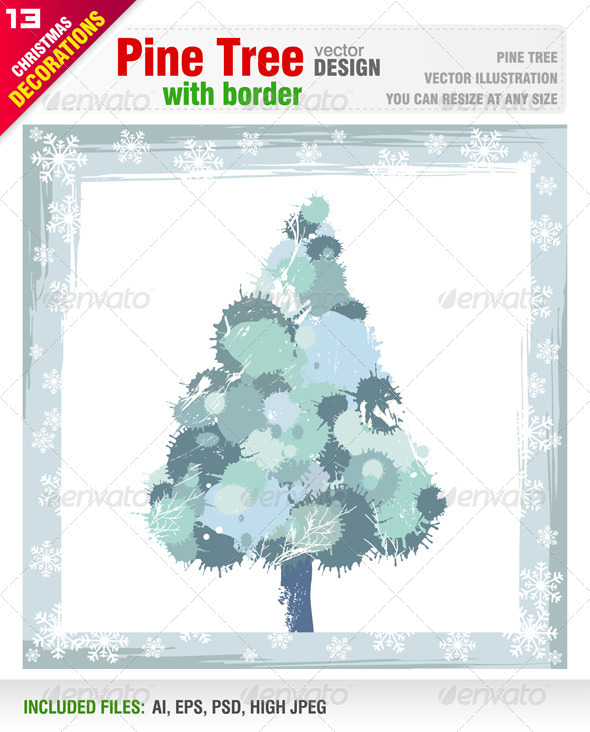 GraphicRiver Pine Tree 5891726