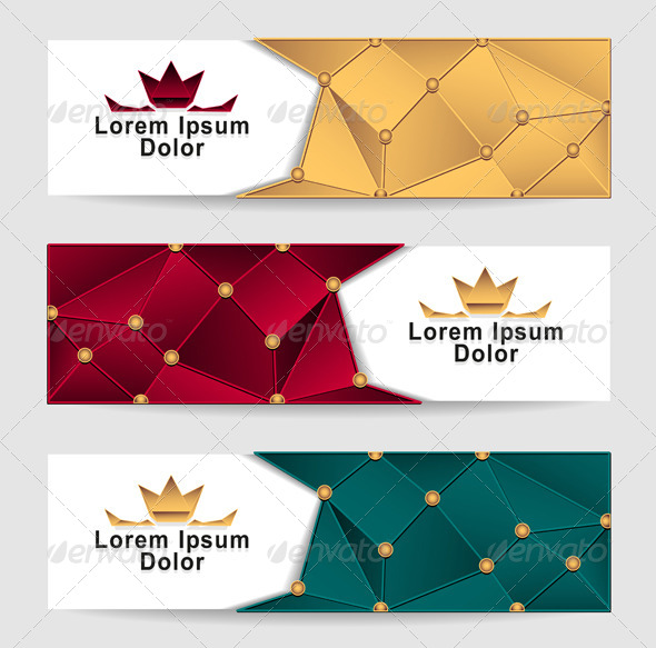 GraphicRiver Set Royal Triangle Banners 5891746