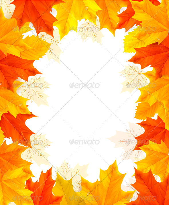 GraphicRiver Autumn Background with Colorful Leaves 5891949
