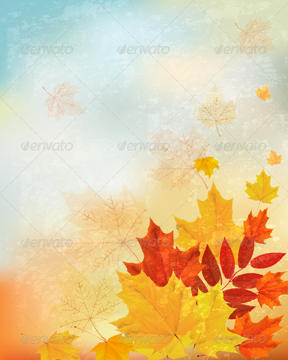 GraphicRiver Abstract Retro Autumn Background for your Design 5892142