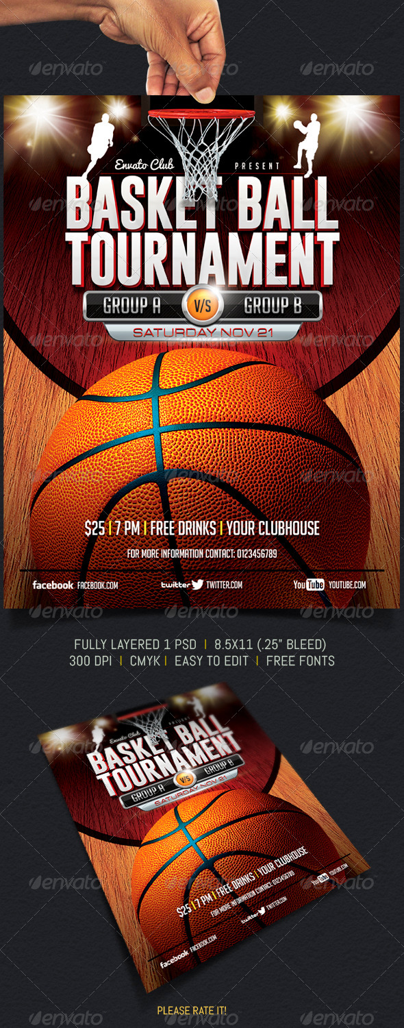 GraphicRiver BasketBall Tournament 5858734