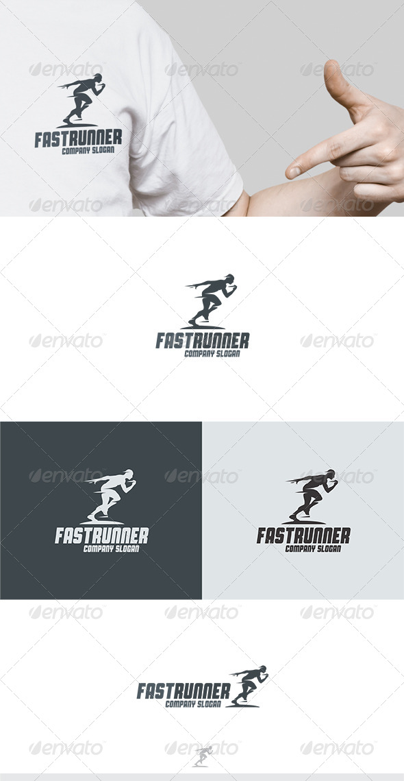 GraphicRiver Fast Runner Logo 5892283