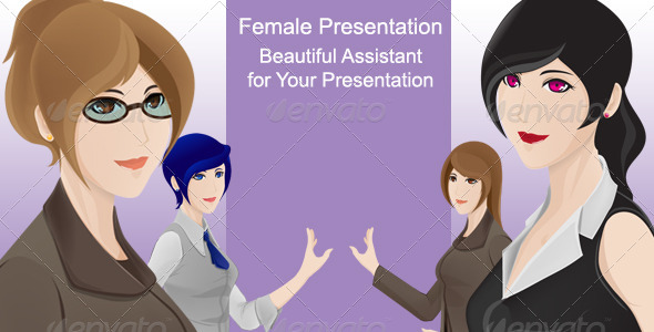 GraphicRiver Female Character Presentation 5892456