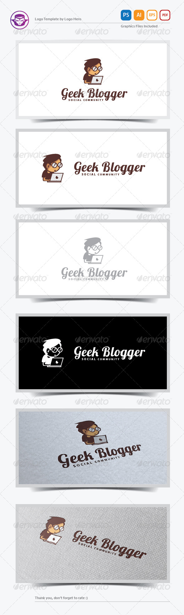 GraphicRiver Geek Blogger Logo Template 5892464