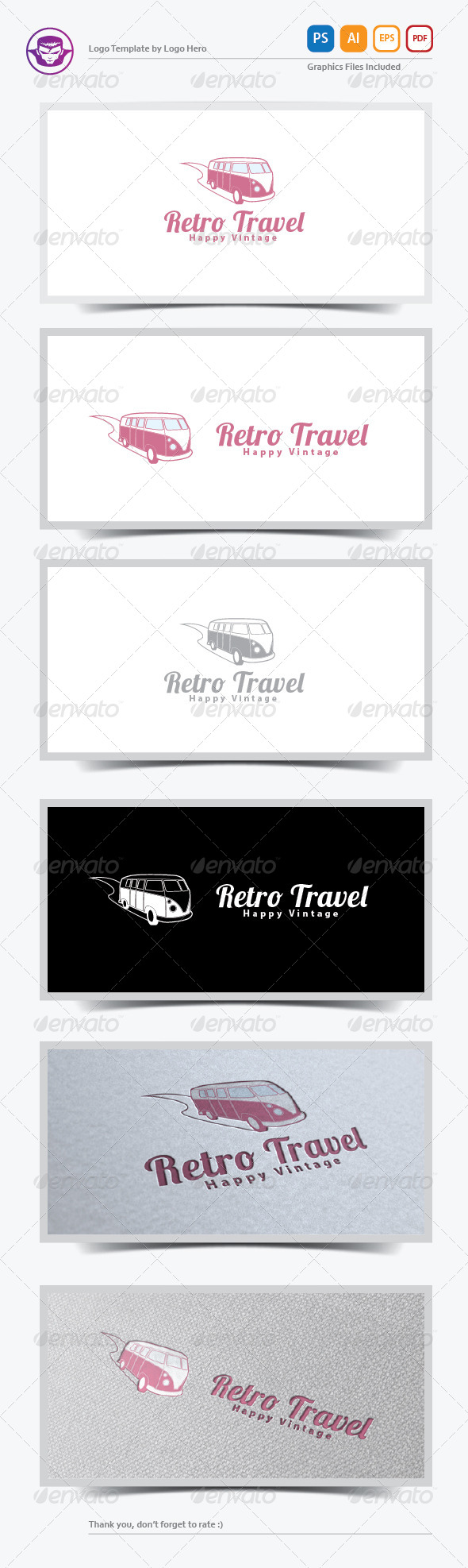 GraphicRiver Retro Travel Logo Template 5892477