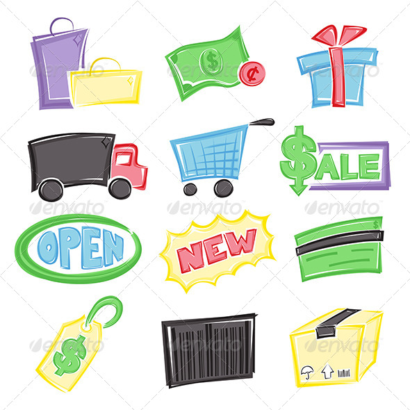 GraphicRiver Shopping Icons 5892485