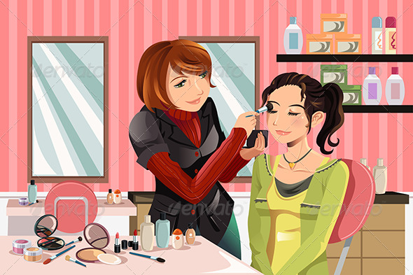 GraphicRiver Makeup Artist at Work 5892489