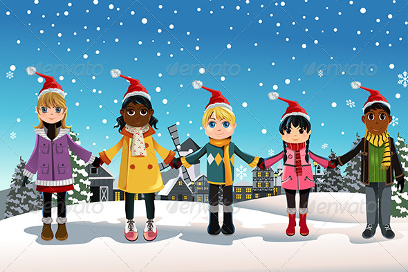 GraphicRiver Christmas Children 5892823