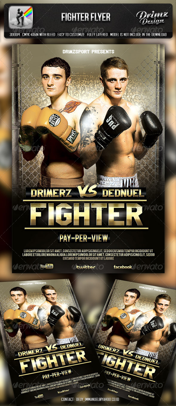 GraphicRiver Fighter Flyer 5892992