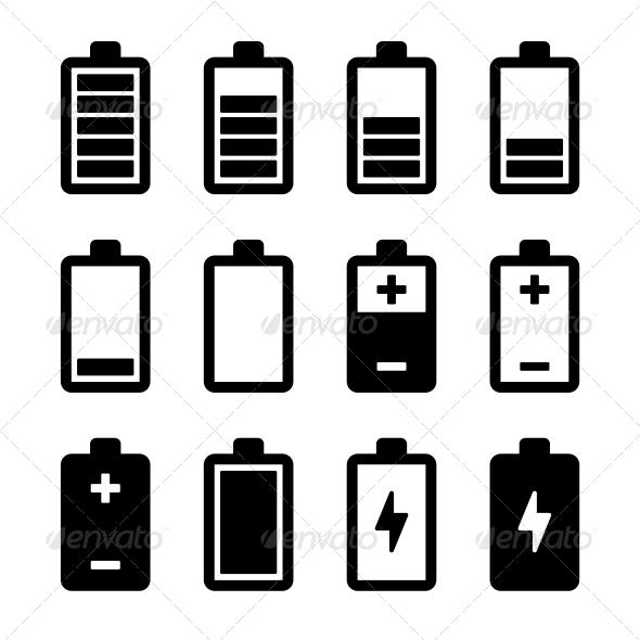 GraphicRiver Battery icons set 5893038
