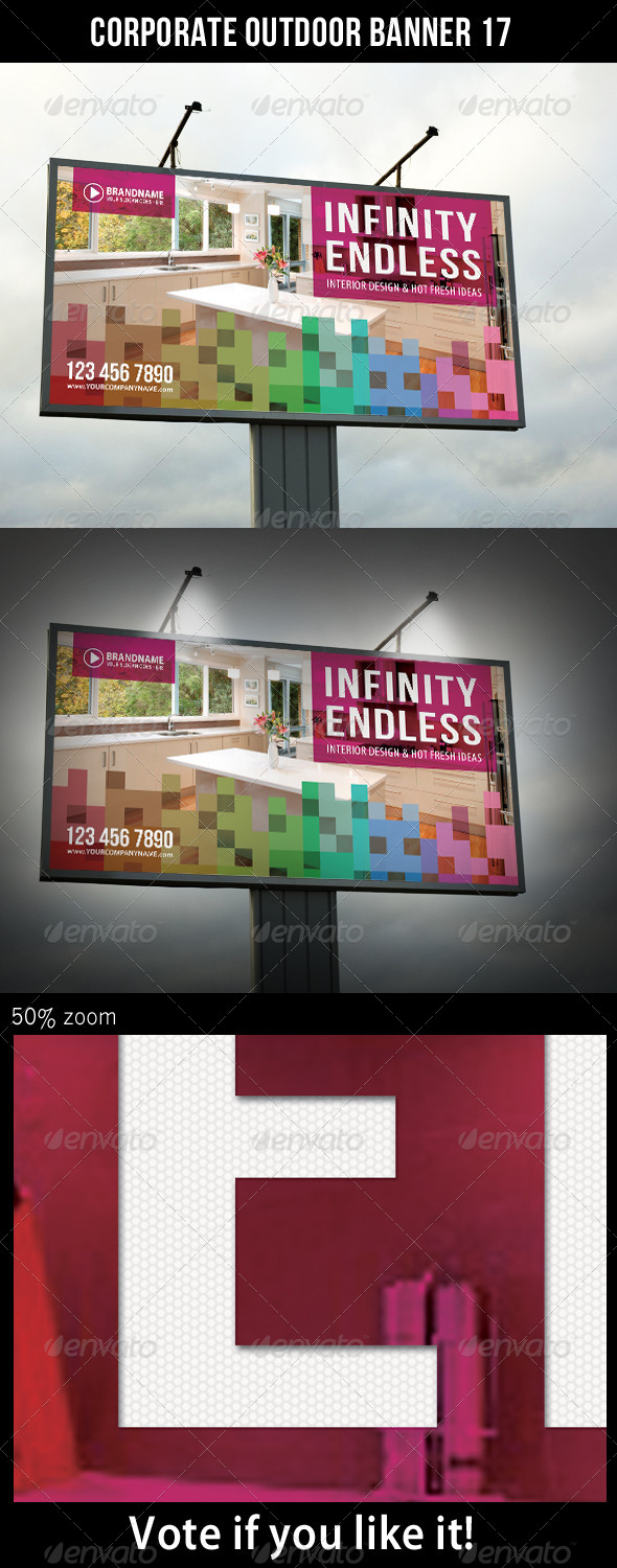 Corporate Outdoor Banner 17 - Signage Print Templates