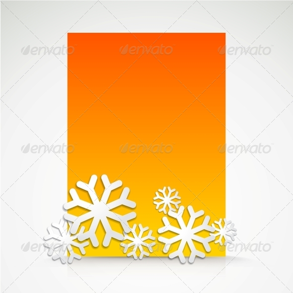 GraphicRiver Snowflake and Bright Christmas Background 5893155