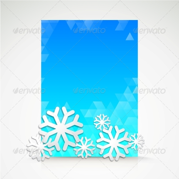 GraphicRiver Snowflake and Bright Christmas Background 5893160