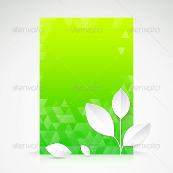 GraphicRiver Green Paper Leaf Abstract Wallpaper 5893178