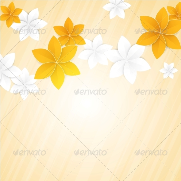 GraphicRiver Paper Flowers and Place for Text 5893213