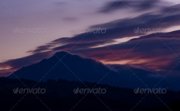 storm at sunset - Stock Photo - Images
