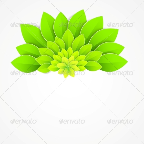 GraphicRiver Background with Green Flower 5893251