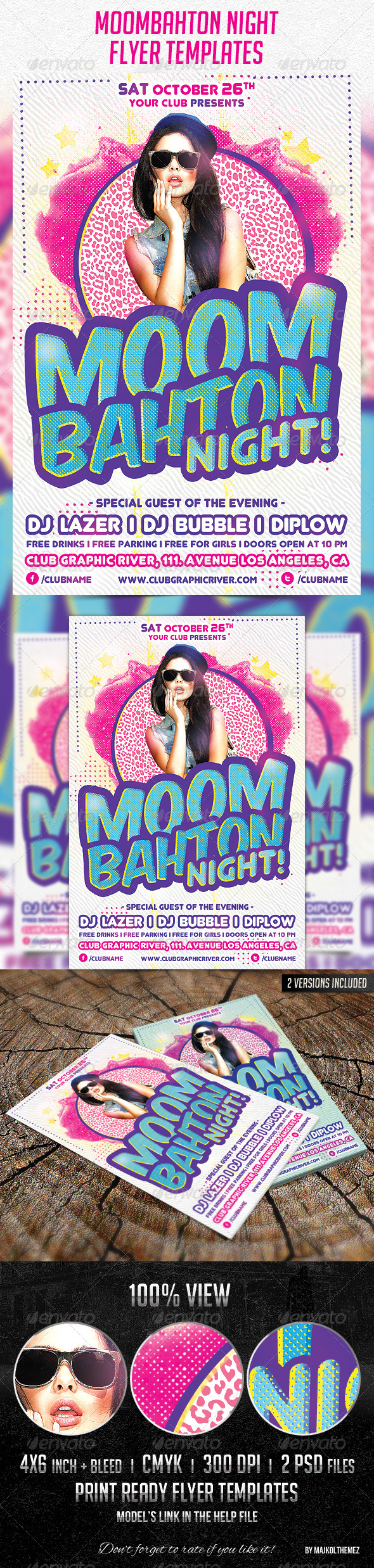 GraphicRiver Moombahton Night Flyer Template 5893270