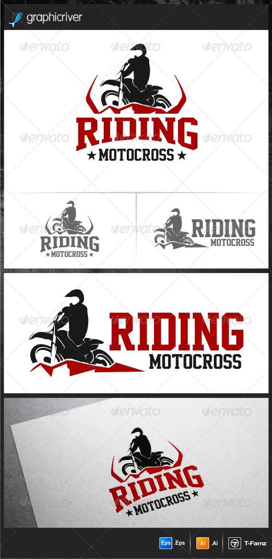 GraphicRiver Riding Motocross Logo Templates 5893297