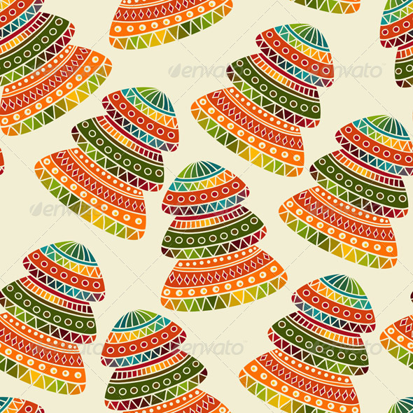 Vector Seamless Christams Pattern