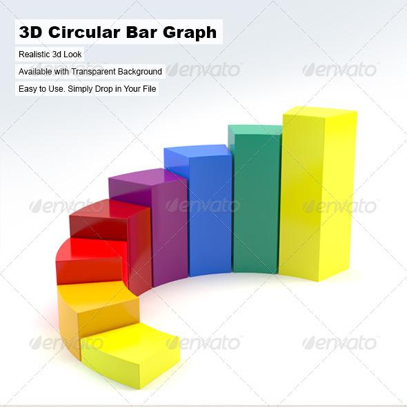 3D Circular Bar Graph - 3D Renders GraphicsCreative Bar Graphs