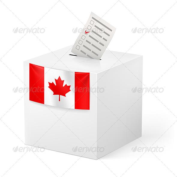 GraphicRiver Ballot Box with Voicing Paper Canada 5893464