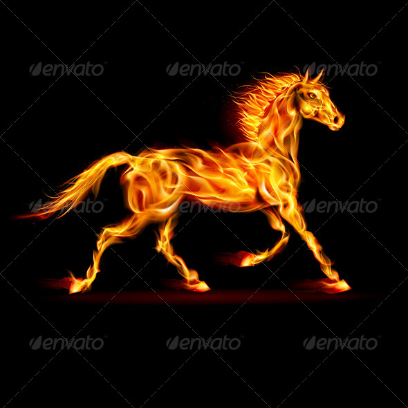 GraphicRiver Fire Horse 5893478