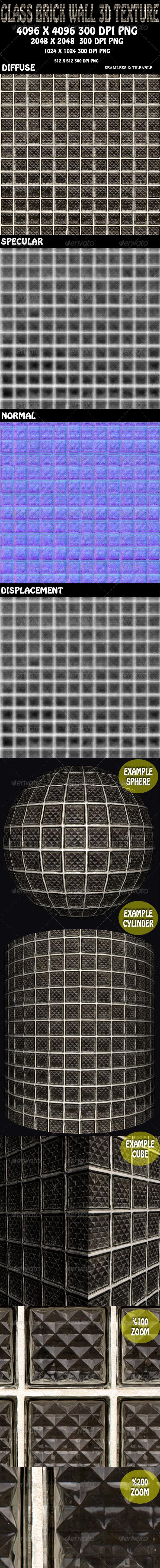 3DOcean Glass Brick Wall 3D Texture 5894111