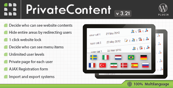PrivateContent – Multilevel Content WordPress Membership Plugin