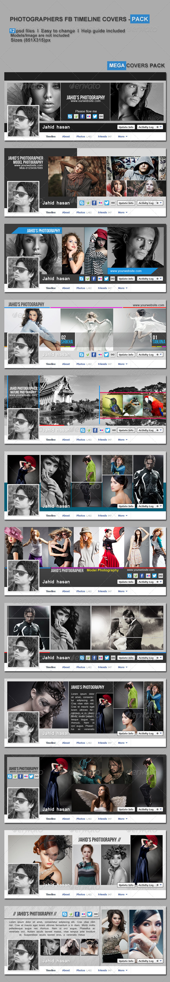 GraphicRiver Photographers FB Timeline Covers Pack 5894844