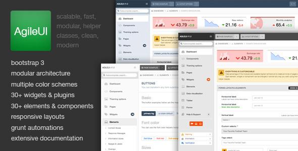 ThemeForest AgileUI Modern Admin Framework Template 5891352