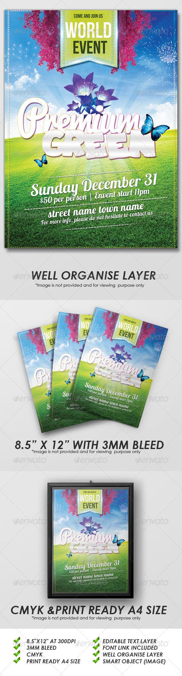 GraphicRiver Premium Green Flyers 5894849