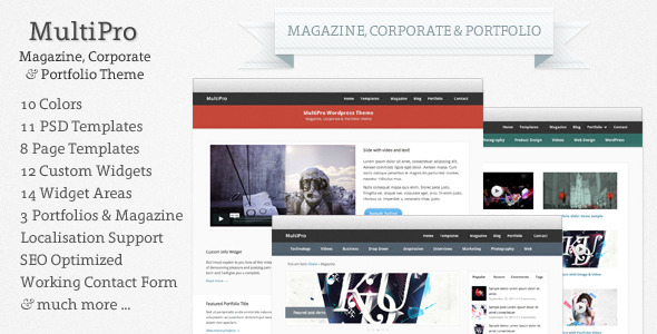 MultiPro: Magazine, Corporate &amp Portfolio Theme