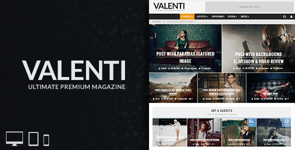 ThemeForest Valenti WordPress HD Review Magazine News Theme 5888961