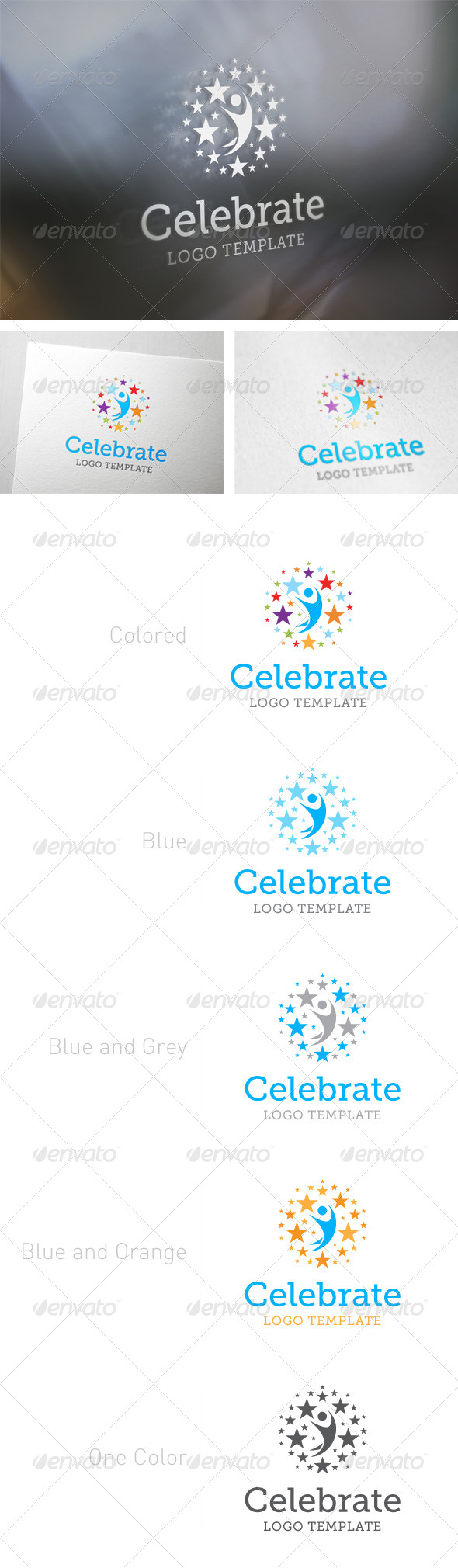 GraphicRiver Celebrate Logo Template 5895460