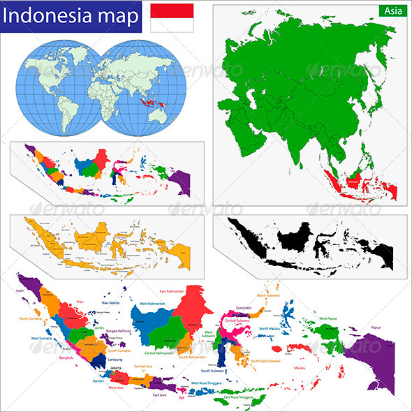 GraphicRiver Indonesia Map 5895496