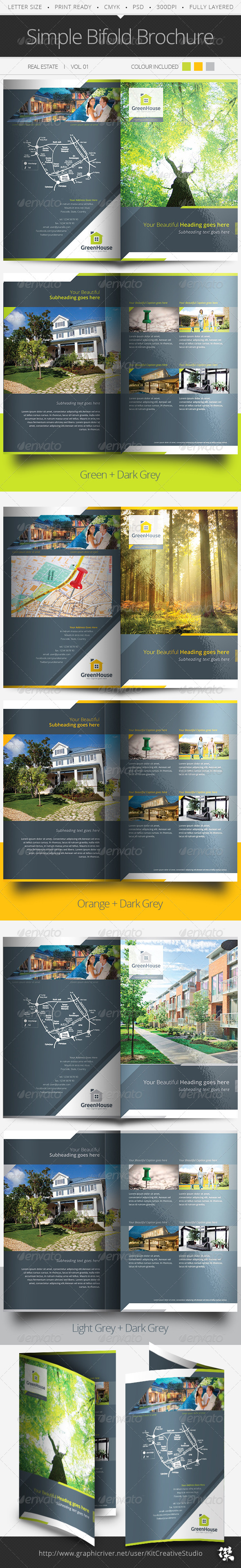Simple Bifold Brochure Vol.01 - Corporate Brochures
