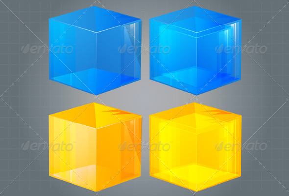 GraphicRiver Cube Icon Illustration 5895635