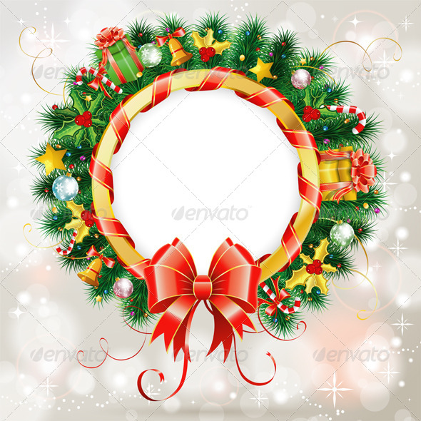 GraphicRiver Christmas Wreath 5895763